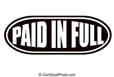 Paid In Full Clipart