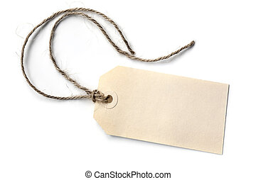 Blank Tag with String Isolated