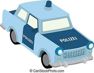 Trabant - Vector illustration of east german police car
