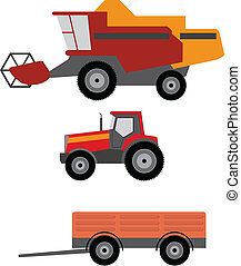 Agriculture vehicles - Vector illustration of agriculture...
