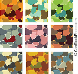 Camouflage pattern - Abstract camouflage vector seamless...