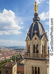 from the top of Notre Dame de Fourviere basilica - View of...