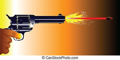Firing Revolver