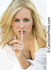Silent Beauty - A beautiful blond haired blue eyed young...