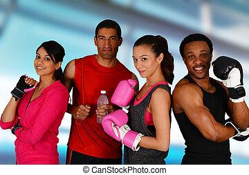 grupo, boxeo