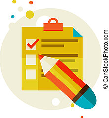 checklist - Flat design modern vector illustration stylish...