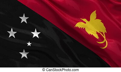 Flag of Papua New Guinea seamless