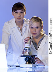 Scientific Research - A beautiful female medical or...