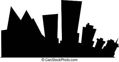 Cartoon Anchorage - Cartoon skyline silhouette of the city...