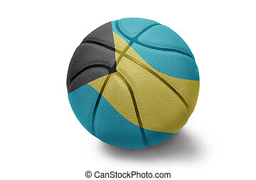 Bahamian Basketball - Basketball ball with the national flag...