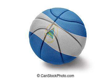 Nicaraguan Basketball - Basketball ball with the national...