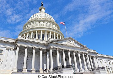 US National Capitol - Washington DC, capital city of the...
