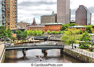 Providence, Rhode Island. City view in New England region of...