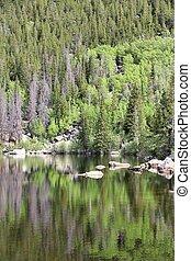 Bear Lake - Rocky Mountain National Park in Colorado, USA....