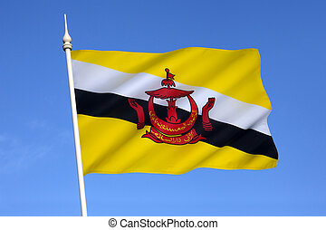 Flag of Brunei - The national flag of The Sultanate of...