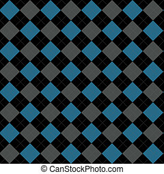 Black, Blue and Gray Argyle Pattern Repeat Background