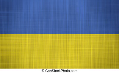 Ukraine Flag with a fabric texture