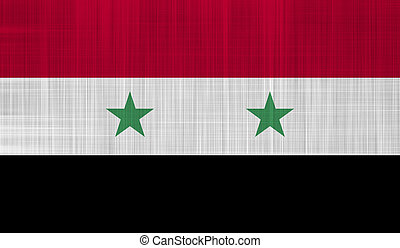 Syrian Flag with a fabric texture