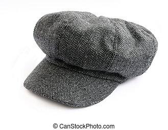 tweed cap - Tweed cap isolated on white background