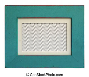 Blue picture frame