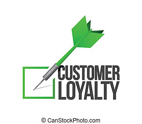 customer loyalty dart check mark illustration design over a...