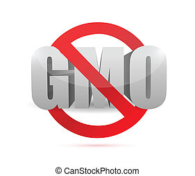 no gmo sign illustration design over a white background