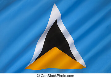 Flag of Saint Lucia - The flag of the Caribbean island of...