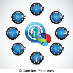 time for business concept illustration design