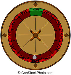 Gambling odds - Concept illustration showing a roulette with...