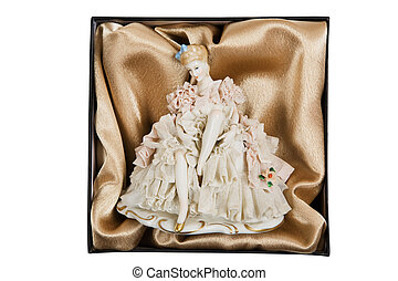 elegant porcelain doll - Antiquarian elegant porcelain doll...