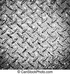 Checkerplate Background Black and White - Background texture...