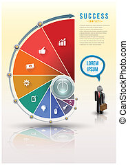 Business Infographics step up template Vector illustration...