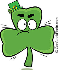 Hopping Mad Cartoon Shamrock