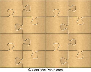 yellow puzzle plane background with patterned golden surface