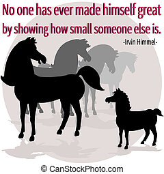 Being great - An illustration showing big horses talking...