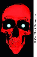Red Skull - A red digital skull with glowing eyes.