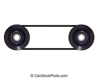 Pulley Wheel - A pulley wheel isolated on a plain background