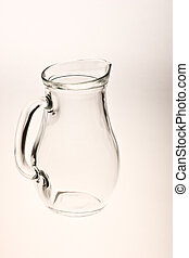 jug - ware series: glassy kitchen pitcher over white