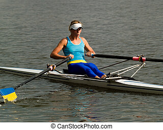 Rowing girl