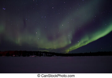 Aurora in the NWT - A winter shower of the Aurora Borealis...
