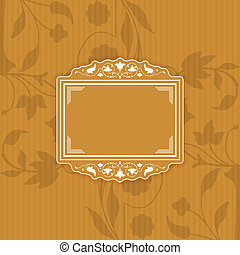 Background with a pattern vintage s - The vector image...