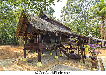 Traditional malay wooden house