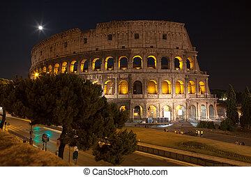 Nacht,  Colosseum, Italien, Rom