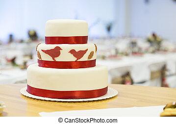 Wedding cake - Beautiful and tasty wedding cake at wedding...