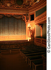 Theatre - Old reach ornamented thetre in Versailles