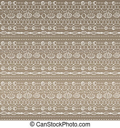 Seamless pattern with lacy design