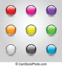 Colored round web buttons