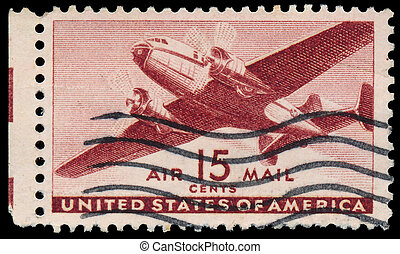 USA-CIRCA 1941: A 30 cent United States Airmail postage...