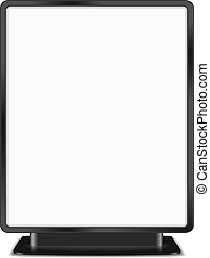 Billboard - Black billboard on white background, vector...