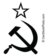 Hammer ans Sickle Black and White - Hammer and Sickle in...